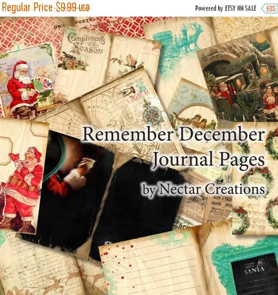 ON SALE Remember December vintage Printable by NectarsCreations