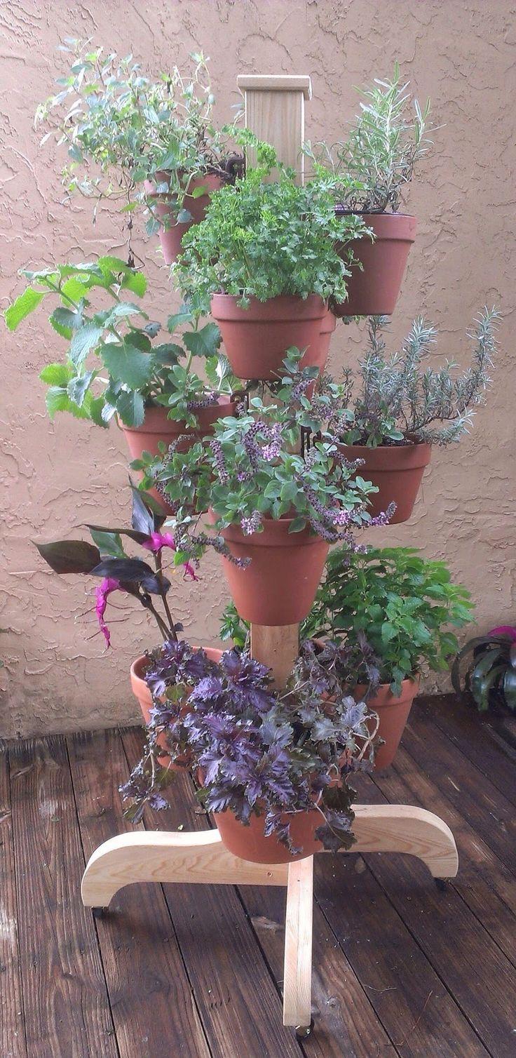 127 best vertical - small space garden design with flower pots