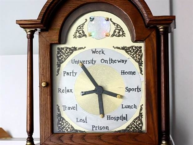 Real life Harry Potter location clock that updates via a mobile app. I want one so bad!!!!