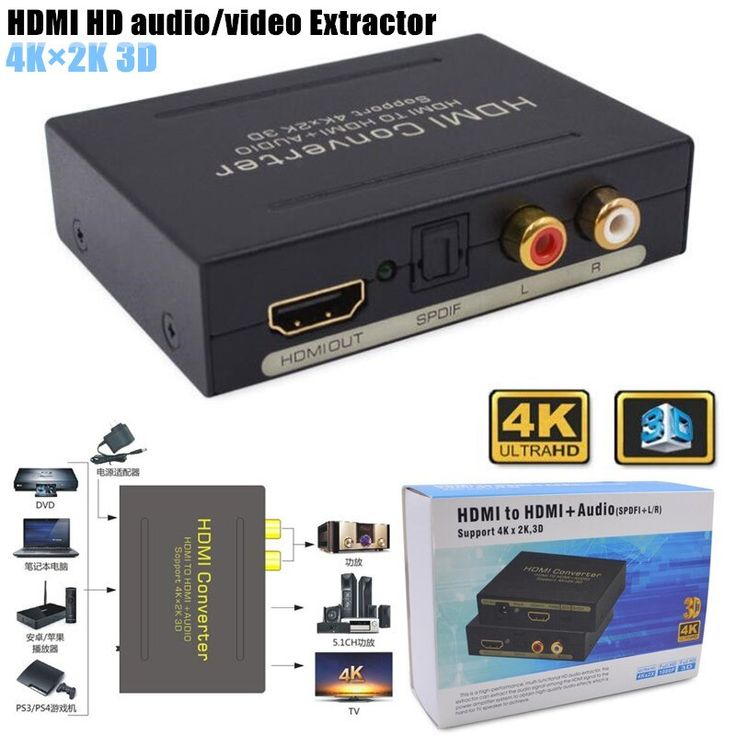 Hot Offer 2160p Hd 4kx2k 3d Hdmi To Hdmi Audio Video Extractor Optical Spdifremove Hdcp Key Agreement Audio C Click The Pics For In 2020 Hdmi Audio Video Converter