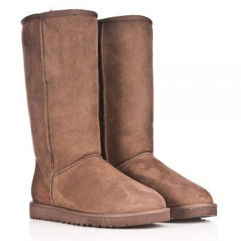 UGG® Australia Authorised Retailer Chocolate Classic Tall Womens Flat Knee Boot
