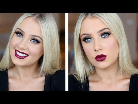 Doll Eyes with Dark Plum Lips Tutorial! How To Do Dramatic and Romantic Makeup For Blue Eyes By Makeup Tutorials. For more cool makeup looks and tips check out: http://makeuptutorials.com/