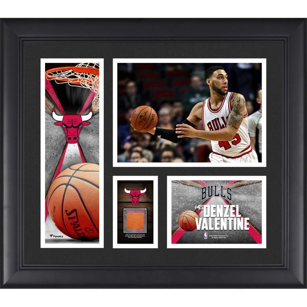 """Denzel Valentine Chicago Bulls Fanatics Authentic Framed 15"""" x 17"""" Collage with a Piece of Team-Used Ball - $79.99"""