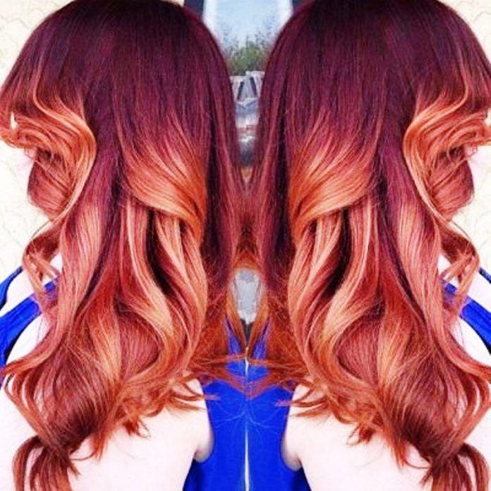 Kızıl Balyajlı Saç Modelleri Önerileri - En Güzel Saç Stilleri