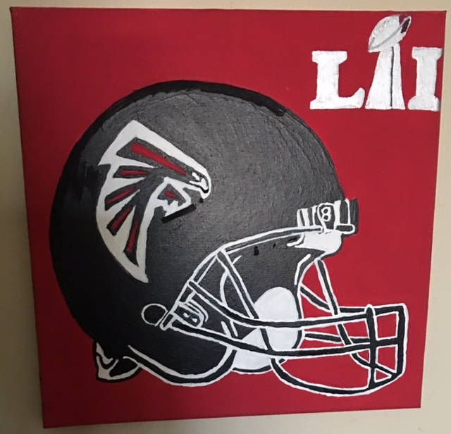 Falcons superbowl contenders painting by ArtWorkByBecky on Etsy