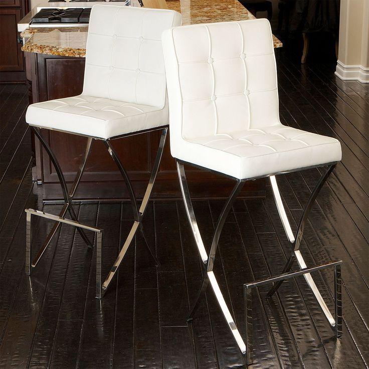 Markson White Leather Bar Stool Www Barstools