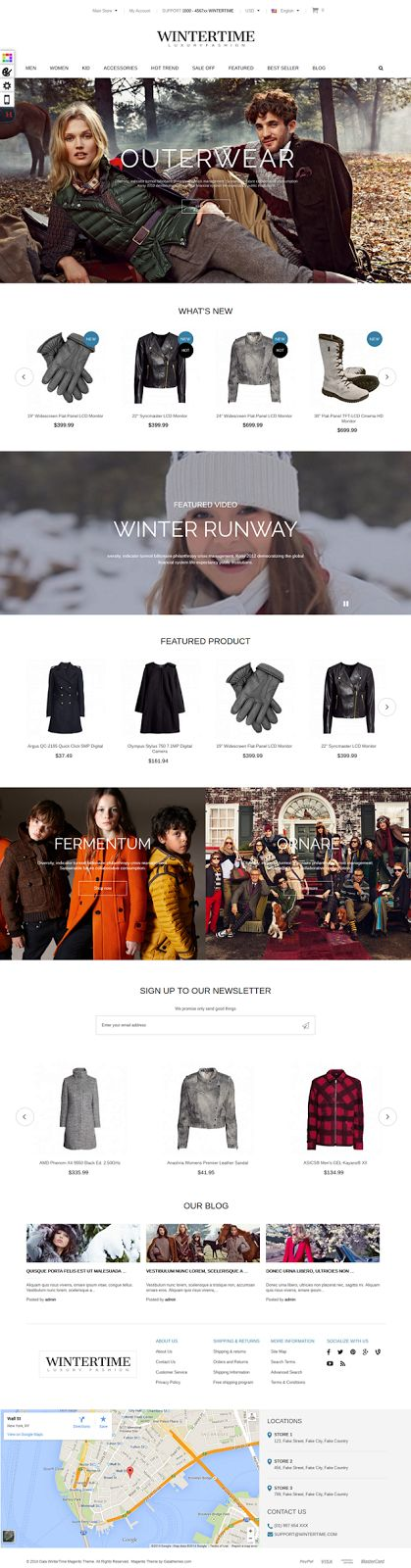Gala Wintertime New Responsive Magento Theme #eCommerce #fashion #store #template