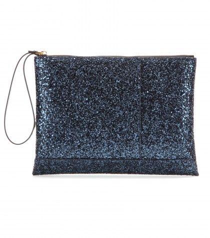 """Clutch Con Glitter"" ""Clutch con glitter blu navy By Marni"" found on Styletorch"