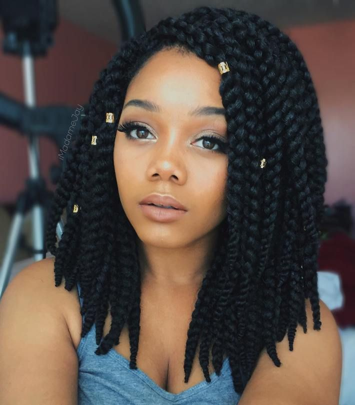 medium lengh hair styles best 25 thick box braids ideas on box braids 1170