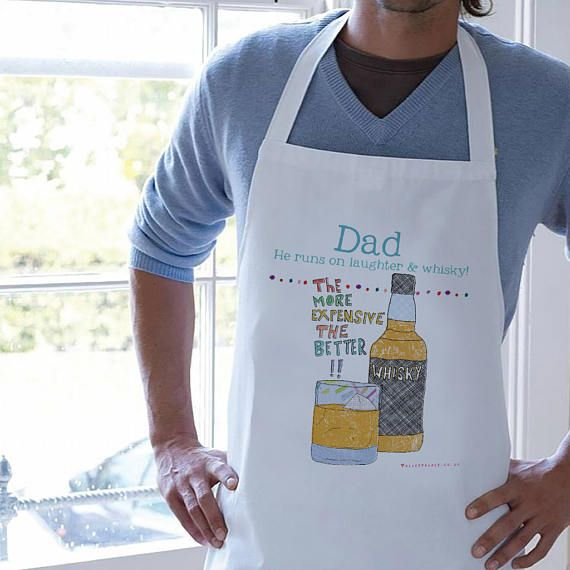 Dad Apron whisky Father's Day Gift Men's Apron