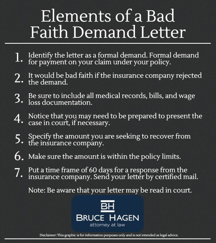 Bad Faith Demand Letter Infographic