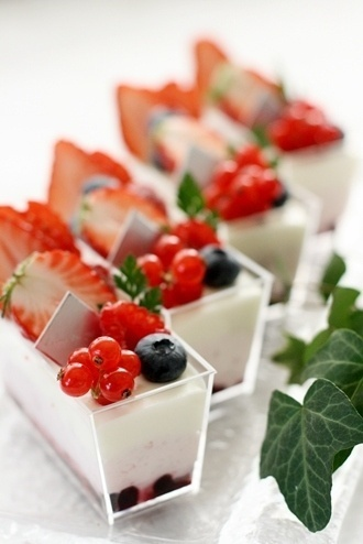 verrines aux fruits rouges