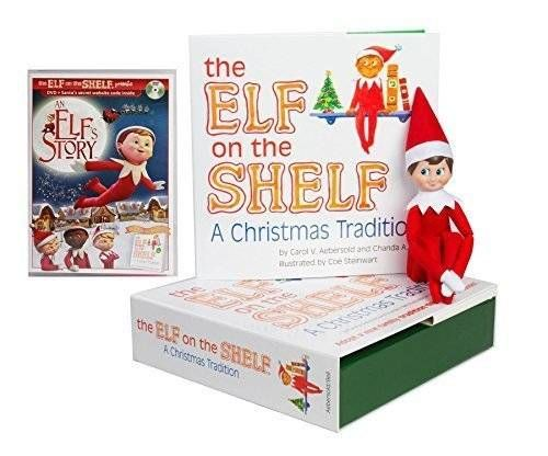cool The Elf on the Shelf Christmas Tradition with North Pole Blue Eyed Boy Elf with DVD