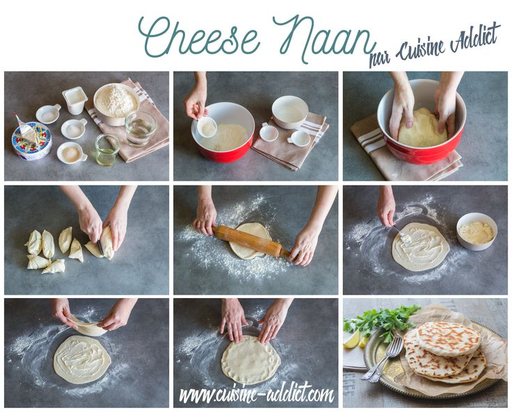 Cheese Naan {Pains au Fromage indiens}