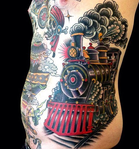 Judd ripley train tattoo
