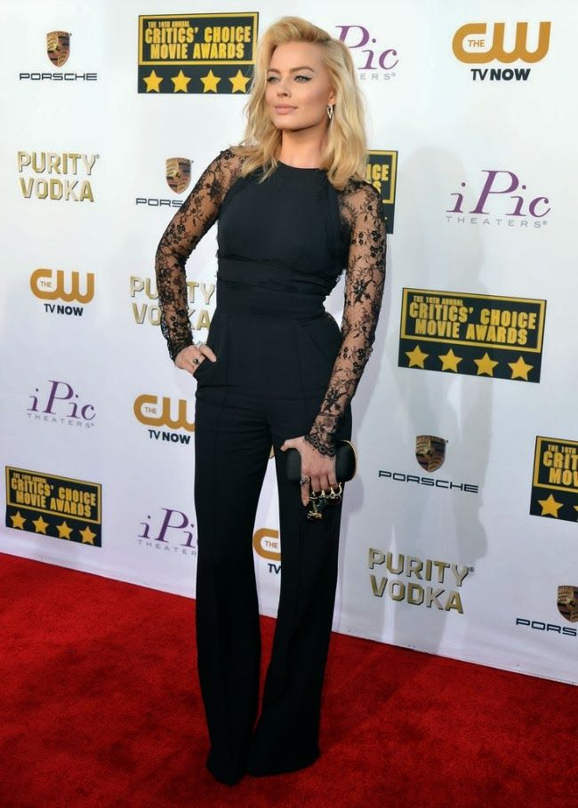shut up, i love that shirt on you: {the new girl} Margot Robbie at Critics' Choice Awards...