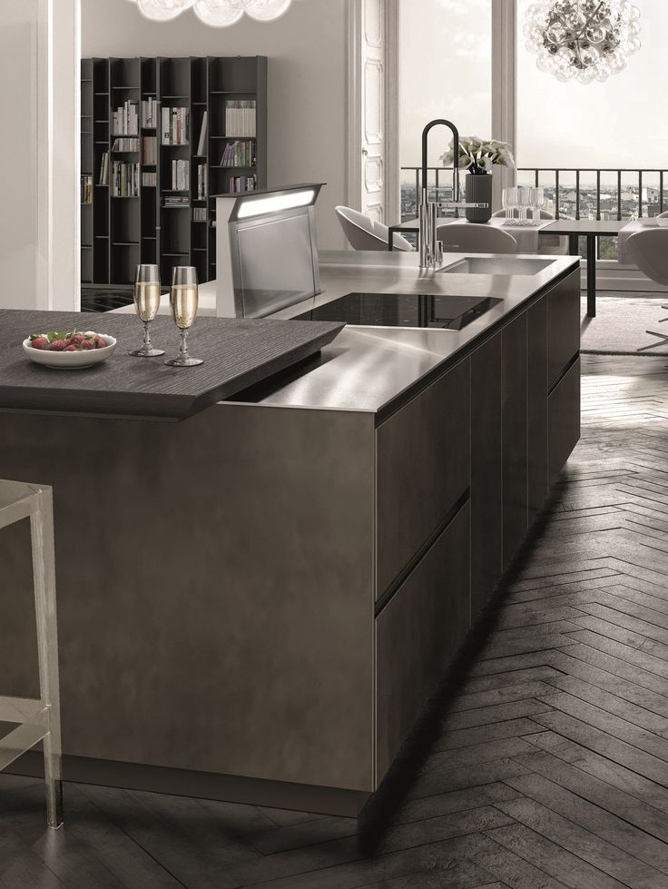 Lacquered Fitted Kitchen ANTIS FUSION By Euromobil Design Roberto Gobbo