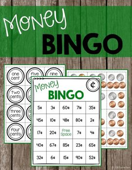 Students can practice identifying and counting coins with a fun game of bingo! Pennies, nickels, dimes, and quarters are included and all values are within $1.00. There are 30 unique boards so there won't be a bunch of winners at once! To call out the money use the list or either set of calling cards (coins and words). This is a fun way to practice as a whole class or as a small group!