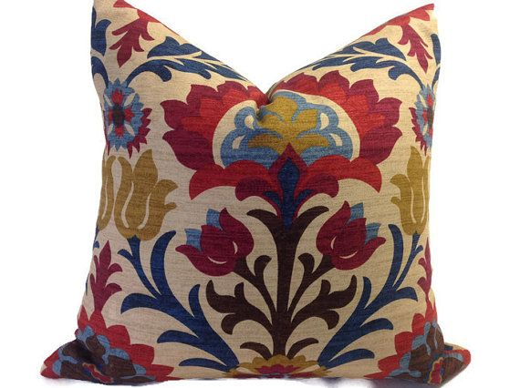 Bright Floral Pillow Cover, Throw Pillows, Decorative