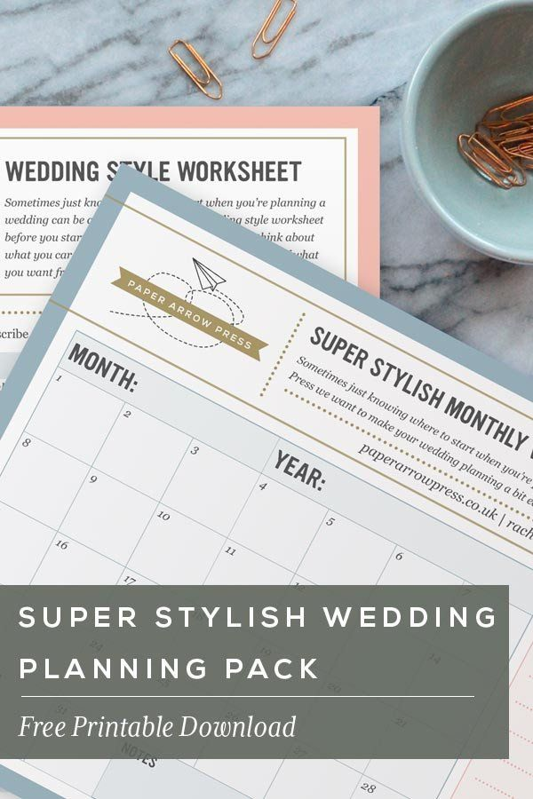 wedding planning checklist spreadsheet free%0A FREE PRINTABLE  Super Stylish Wedding Planning Pack   Paper Arrow Press   Modern Wedding Stationery