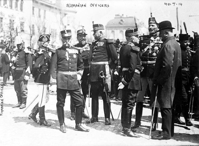 Some fairly elaborate Romanian Officer uniforms during WW1. Wikipedia / George Grantham Bain Collection / No known…