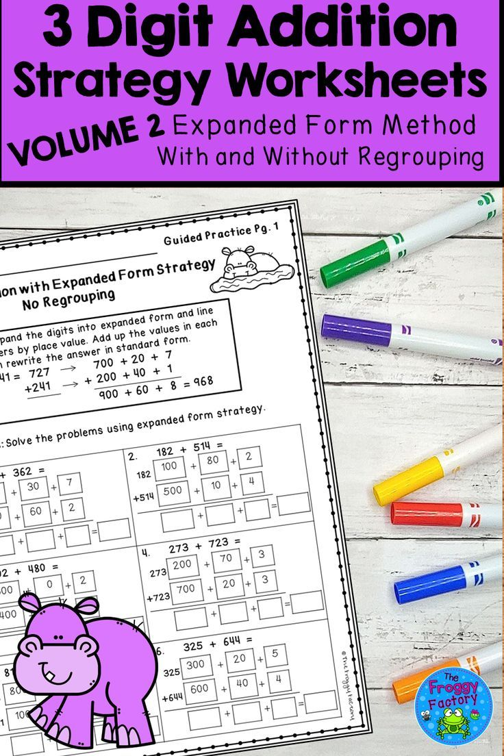 Are You Struggling To Teach Addition Using Common Core Strategies These 3 Digit Addition Worksheets Using Addition Strategies Second Grade Math Math Stations How do you do common core math addition