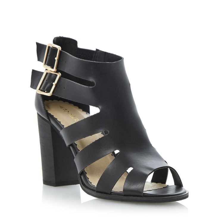 Head Over Heels Ladies GAZELLE - Cut Out Heeled Gladiator Sandal - black | Dune Shoes Online
