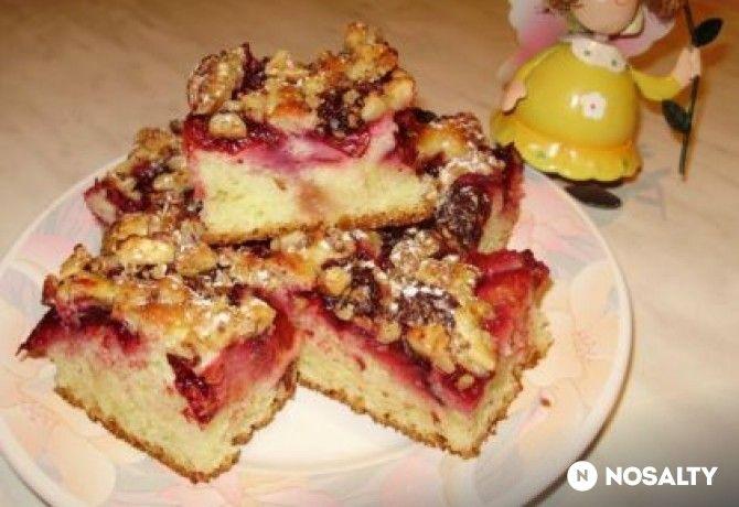Szilvás-diós pite