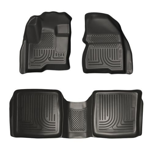 98741 Husky Liners WeatherBeater Front-2nd Seat Floor Liners 2009-2014 Ford Flex, Lincoln MKT