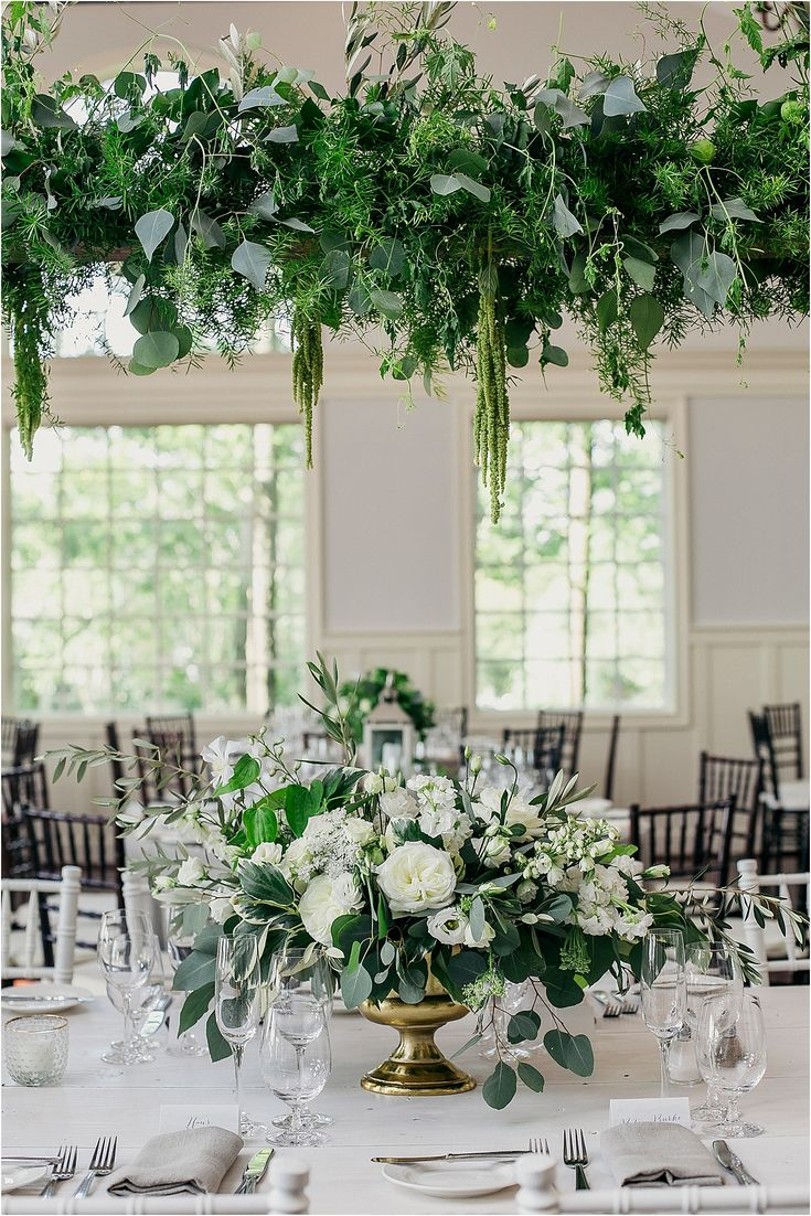 Chesapeake Bay Beach Club Greenery Wedding | Kari Rider Events