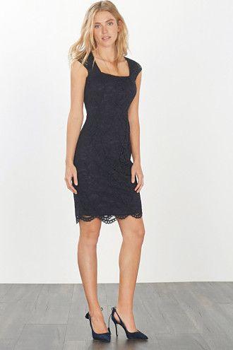 Esprit / Kanten jurk van een elastische katoenmix