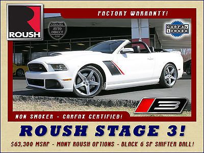 """eBay: 2013 Ford Mustang GT Premium ROUSH STAGE 3 CONVERTIBLE $63,300 MSRP-1OWNER-20"""" WHEELS-5.0L… #fordmustang #ford usdeals.rssdata.net"""