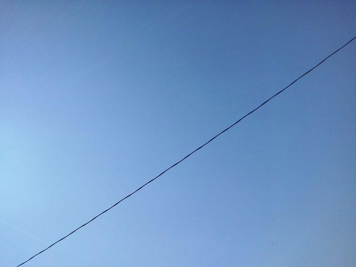 cable en diagonal d´electrictat