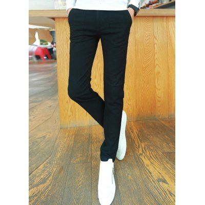Style: Casual  Material: Cotton, Polyester  Fit Type: Regular  Waist Type: Mid  Closure Type: Zipper Fly  Front Style: Flat  Weight: 1.1KG  Pant Length: Long Pants  Pant Style: Pencil Pants  Package Contents: 1 x Pants  SizeWaistLength 2870106 2972107 3076107.5 3178107.5 ...
