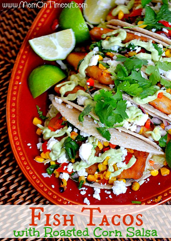 Grilled Fish Tacos With Roasted Corn And Pepitas Recipe — Dishmaps