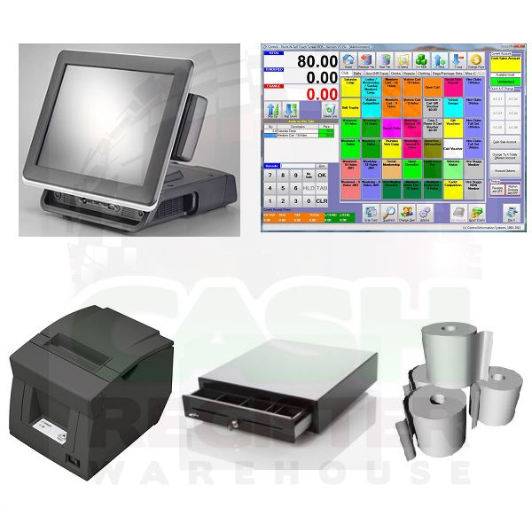 MEGAPOS TOUCH SCREEN POS BUNDLE - Software Included! $2195 from cash register warehouse