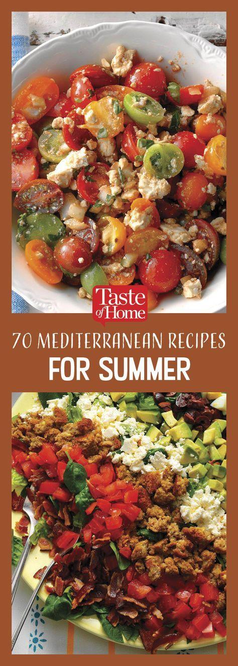 70 mediterrane Rezepte, die Ihren Sommer verschönern