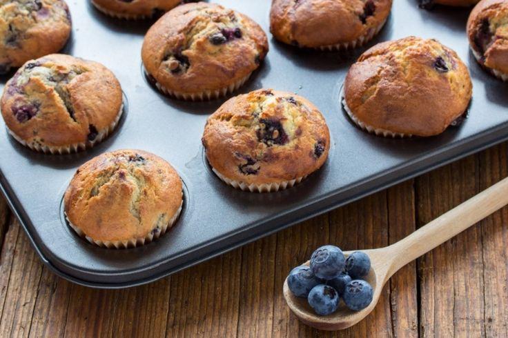 Muffins aux bleuets et babeurre au goût de beignet