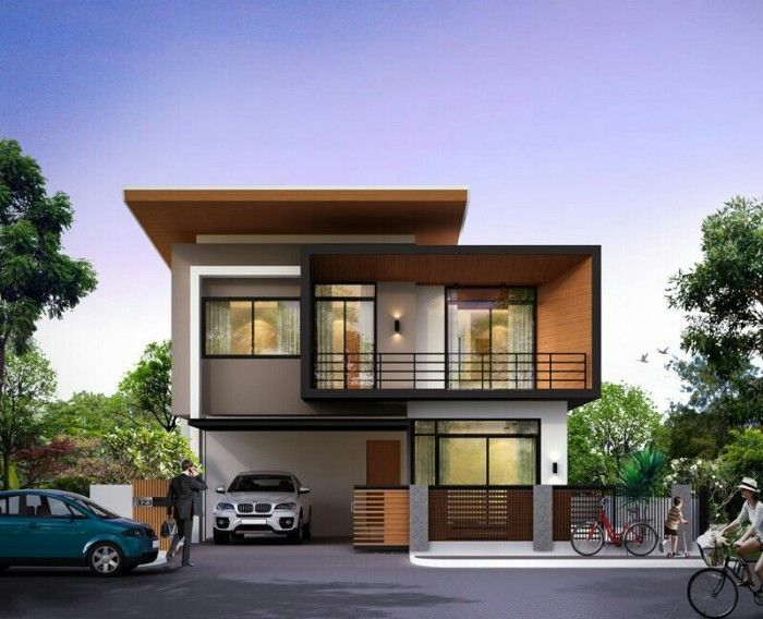 21 Impressive Modern Two Storey Exterior Renders For Inspiration House And Decors Bungalow House Design Home Building Design Modern Bungalow House
