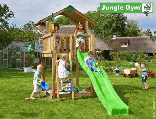 Jungle Chalet - The best playareas are outside!  - Jungle Gym #PinToPlay #JungleGym