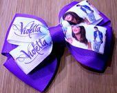 Fiocco per capelli montato su molletta ispirato a Violetta : Accessori per capelli di latipadeltappo