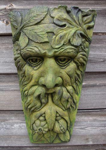 Harvest Green Man Decorative Wall Plaque Keystone Home Or Garden Ornament  38cmH