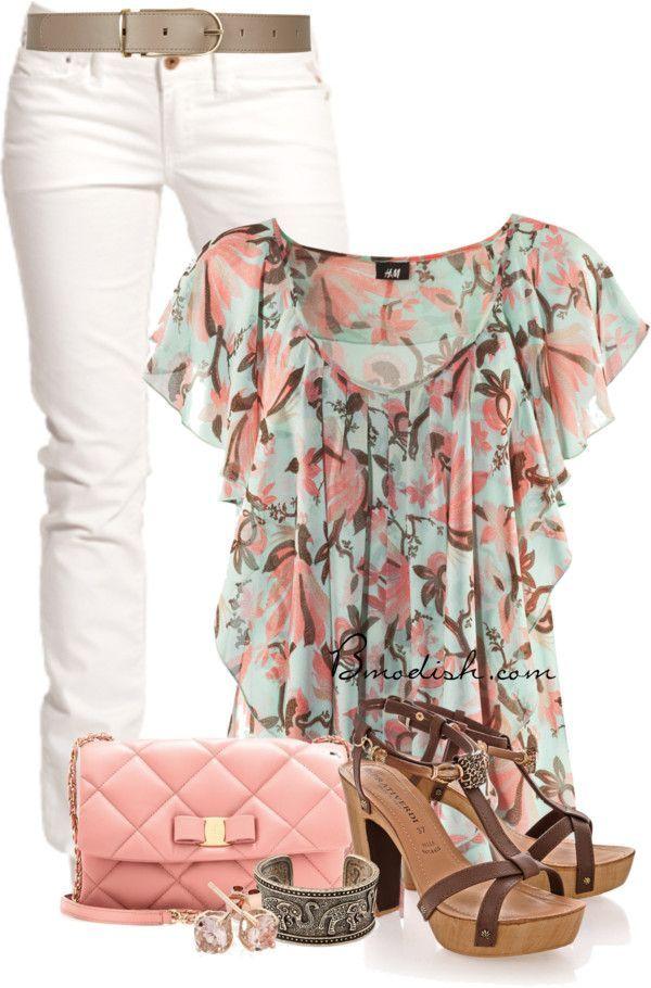 Vestir con un top con Flores - Outfits 6