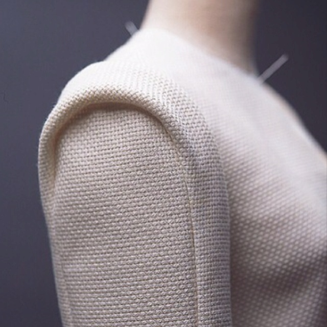 Tomoko Nakamichi structured sleeve detail; textile manipulation for fashion
