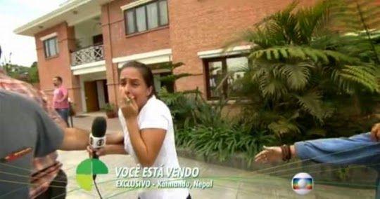 R12 Noticias: Vídeo:Repórter da Globo se assusta com novo tremor...