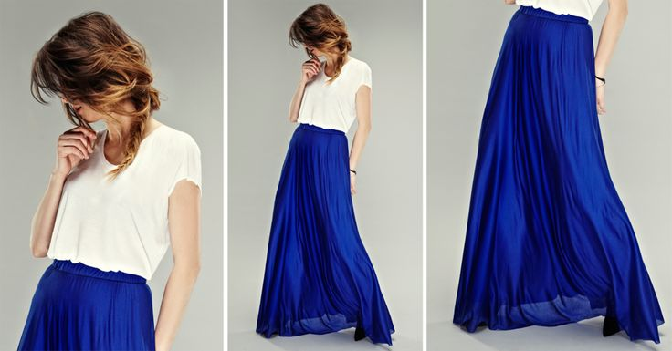 DIY: A maxi skirt on the basis of semicircle http://www.pracowniajanlesniak.pl/en/diy-a-maxi-skirt-the-basis-of-a-semicircle/