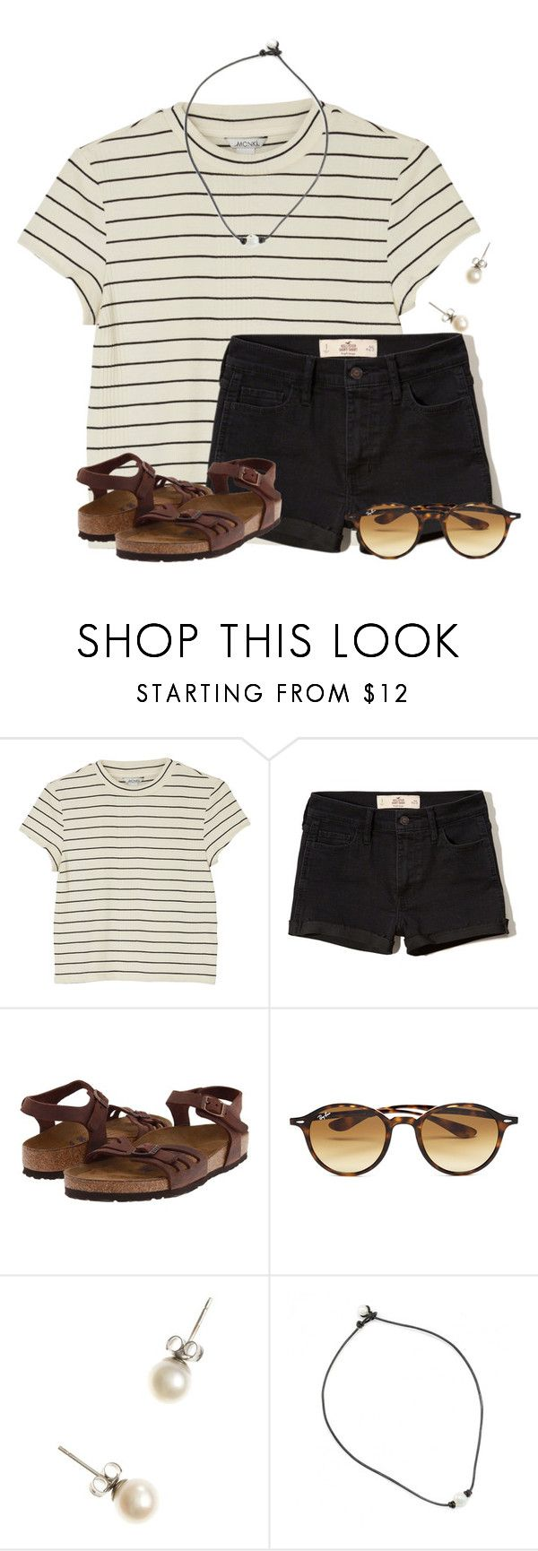 """""""~Going to Orlando for the long weekend~"""" by flroasburn on Polyvore featuring Monki, Hollister Co., Birkenstock, Ray-Ban and J.Crew"""