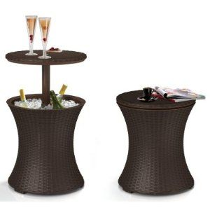 Pacific Cool Bar Patio Table Party Cooler Keter Wicker