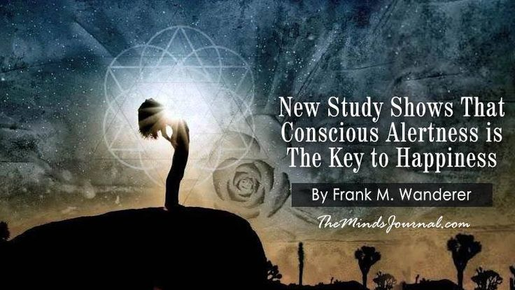 New Study Shows That Conscious Alertness is The Key to Happiness - New Study Shows That Conscious Alertness is The Key to Happiness By Frank M. Wanderer Get your thoughts published on The Minds Journal too, login/register on www.themindsjournal.com to submit.  - http://themindsjournal.com/new-study-shows-that-conscious-alertness-is-the-key-to-happiness/