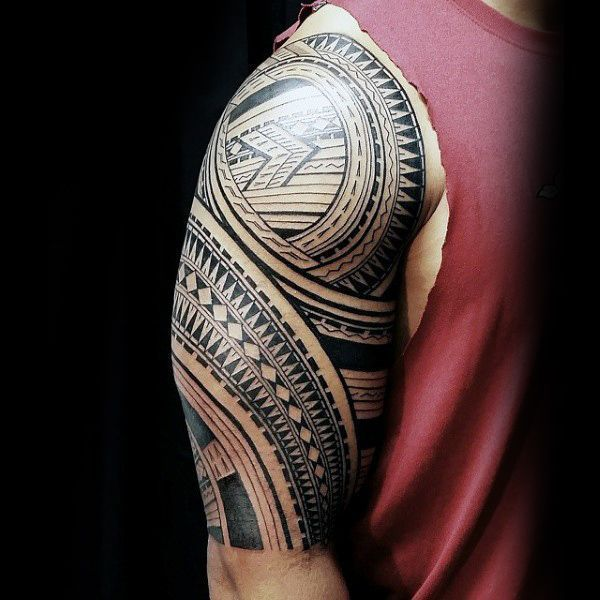 90 Samoan Tattoo Designs For Men - Tribal Ink Ideas                                                                                                                                                                                 More #samoantattoos #samoantattoosshoulder #samoantattoosmen